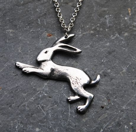 Hare pendant necklace P49